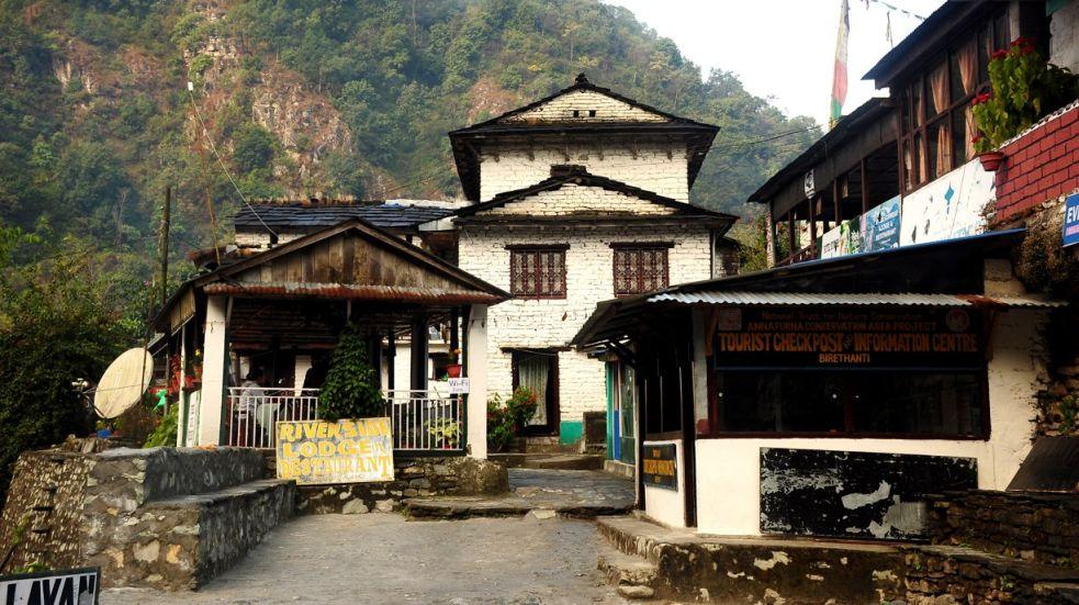 Ubytování v Nepálu při trecích