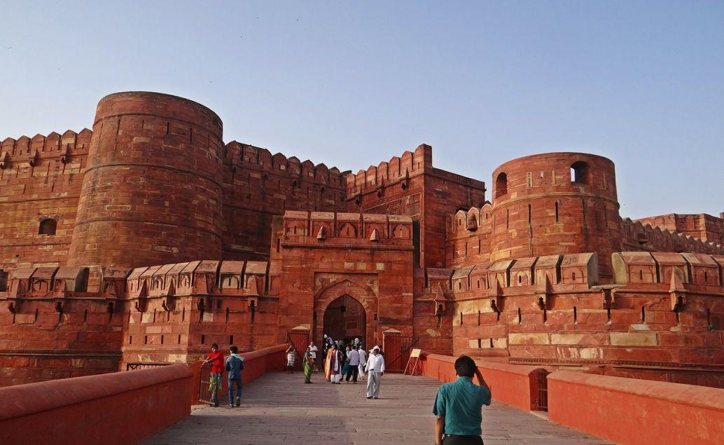Červená pevnost ve městě Agra