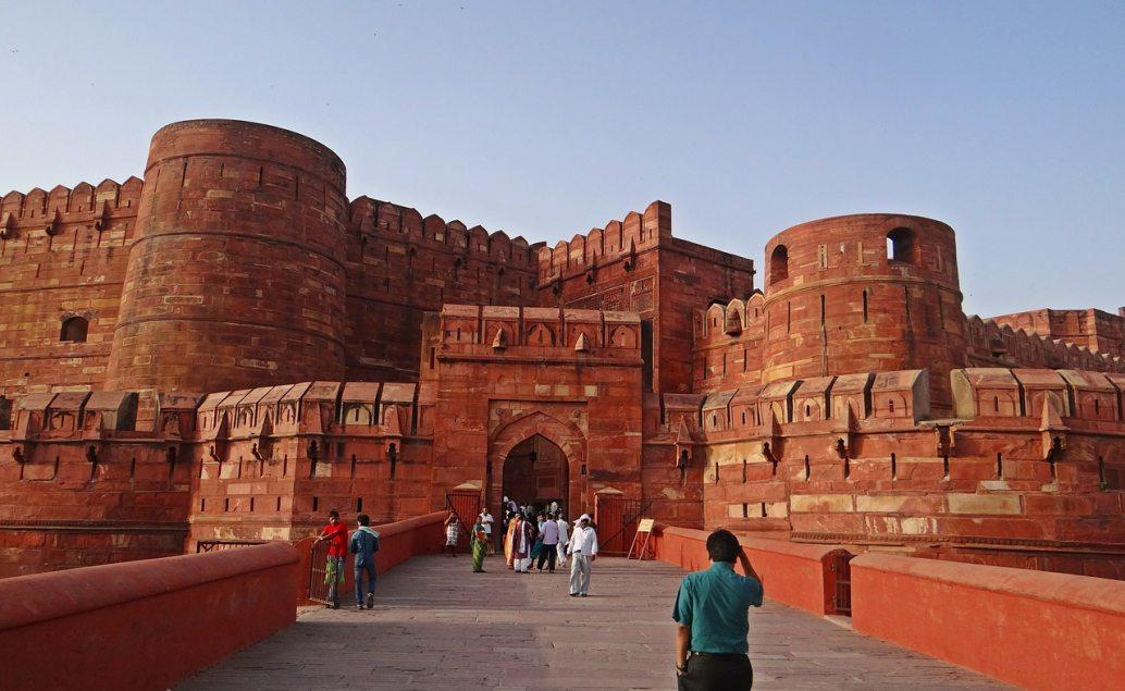 Červená pevnost v městě Agra