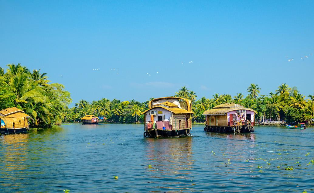Plavba v houseboat v Kerala