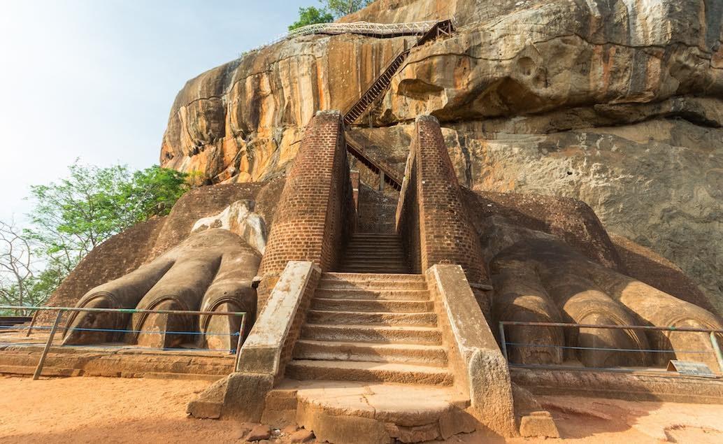 tajemná skalní pevnost Sigiriya